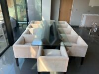 Stunning 10 seater dining table including 10 chairs