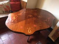 Edwardian Inlaid Inlay Table
