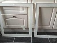 2 IKEA cupboard doors, glass brand new