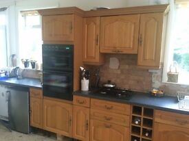 Traditional Oak Kitchen units with appliances