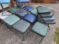 Fantastic Stacking Metal Stools With Vinyl Tops UK Delivery
