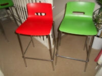 Allermuir CS5BS Casper Bar Stool With Plastic Seat & Back