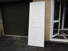 Doors - 10 x 4 panel pressed MDF internal doors (used)