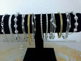 925 silver plated bracelets