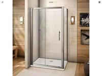 Shower sliding doors and enclosure 1200x900