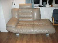 Leather three piece suite OPEN TO OFFERS