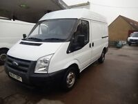 FORD TRANSIT 2007 57 PLATE 132K MILES 1 YEAR MOT SHORT WHEEL BASE MEDIUM ROOF £2995 NO VAT