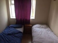 Twin Room for Male Share or 2 Friends Available in Flat Share