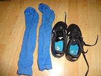 Used boys football shoes size 12K adidas and football socks