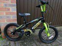 Avigo Dragon green BMX style bike for age 6-8