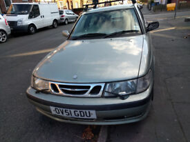 Repairable 2001 Saab 9-3 SE TID for sale