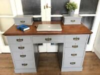 Antique Desk Free Delivery Ldn Solid wood chest of Drawers dressing table