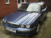 2004 X Type Jaguar SE 2 litre Diesel Estate 5 speed manual, blue with black leather upholstery
