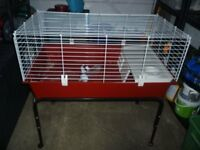 indoor rabbit/guinea pig cage with stand