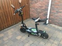 Urban road legal electric scooter does 40 kmh around 28 miles per hour