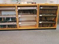 "KINNARPS OAK VENEER OFFICE ""O LINE"" FILING/STORAGE CABINETS - 11 for sale in total."
