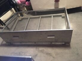 2 metal underbed storage drawers