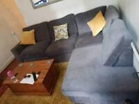 Corner grey sofa