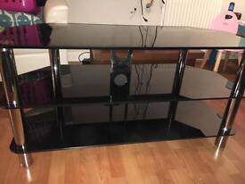 Black Glass TV Unit/Stand