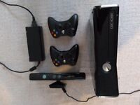 Xbox 360 250GB Slim + Kinect, two controllers and bundle of 15 top games