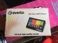 Like new 5inch DVDFab HD Video MP3 player