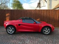 LOTUS ELISE S1 SERIES 1 RED SPORTS CAR + WITH BLACK SOFT TOP 1998