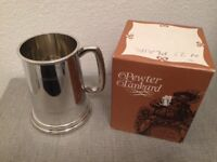 Solid Pewter Tankard New Boxed