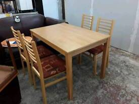 Table With 4 Chairs - Delivery Available