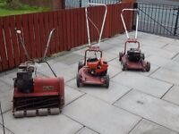 job lot of petrol lawn mowers spares or repairs / grass cutters / strimmers / gardening