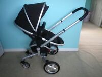 UNISEX BLACK SILVER CROSS SURF PRAM PRISTINE CONDITION