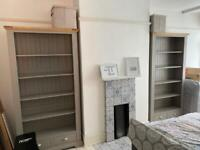 2 x Solid Wood Bookcases