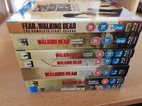 The Walking Dead & Fear The Walking Dead Blu Ray Complete Set