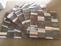 Brand New Unopened Mosaic Bathroom Tiles, 6 lots of 30cm x 30cm (original cost £90)
