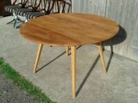 Price includes Delivery for East London Ercol 384 Drop Leaf Dining Breakfast Round Table