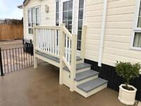 Upvc Cladding Mobile Home Static Caravan Chalet Step Decking