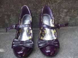 Ladies purple patent Red Herring Mary-Janes for sale