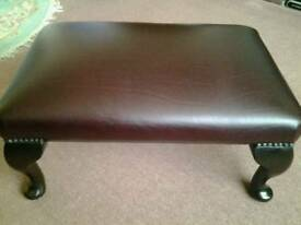 Leather Foot Stool.