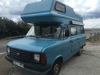 Classic mk2 transit campervan 4 berth ** NEW MOT ** barn find project low miles swap, not mk1 camper