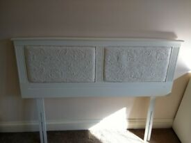 White Double Headboard