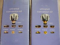 Two Brand New Pairs of Tap Conversion Kits