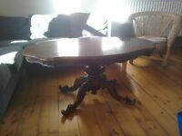 ANTIQUE MAHOGANY COFFEE TABLE – in need of some tlc OPEN TO OFFERS