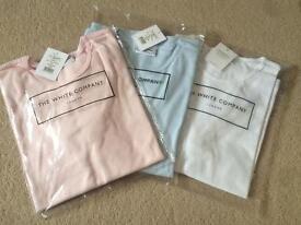 White Company Large T-Shirts - Light blue, light pink and white