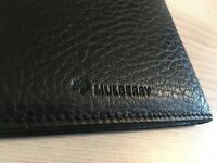 Genuine Mulberry black leather card holder, wallet, like new