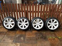 "4 x Genuine 18"" Audi Alloys (Including Tyres) For Sale"