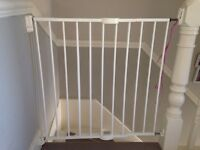 2 Lindam Extending Fix to Wall Stair Gates - White