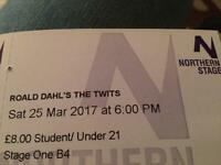 X3 Tickets - Northern Stage Newcastle The Twits 25/03/17 - Greats seats (B Row)