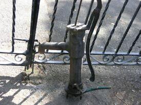 Vintage Cast Iron Garden Feature Water Pump Weymouth