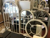 NEW VERY LARGE arched cream or grey window mirror ONLY £139