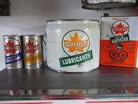 Oil Cans- Supertest, White Rose,B/A,Esso,Texaco,Sunoco,