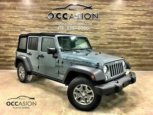 2014 Jeep Wrangler Unlimited Rubicon GPS AUTOMATIQUE GARANTIE CU